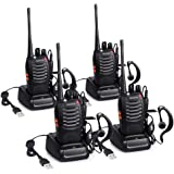 Proster Walkie Talkie Recargables, Walky Talky Profesionales 16 Canales, CTCSS DCS, con Auricular Incorporado Antorcha de LED