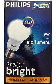 Philips 9290013830 Base B22 9 Watt LED Bulb  Pack of 2, Warm White