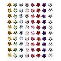 Artemio 80-Piece Adhesive RhineStones Flowers, Multi-Colour