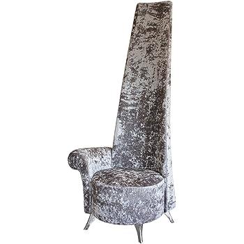 Stickbase Ltd Silver Crushed Velvet Potenza Chair - Luxury handmade chair armrest  sc 1 st  Amazon UK & Stickbase Ltd Silver Crushed Velvet Potenza Chair - Luxury handmade ...