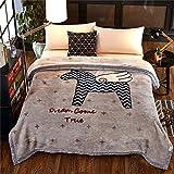 Biancheria da letto spesso il doppio caldo inverno quilt fogli raschel coral coperta di vello,180 x 220/5,6 libbre, Cavallo genitori vacanza regali di Natale
