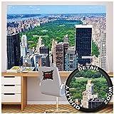 Great Art Nueva York Central Park Papel Pintado de fotografía - Manhattan decoración de la Pared -XXL Cartel Central Park en Nueva York - decoración de la Pared by (140 x 100 cm)