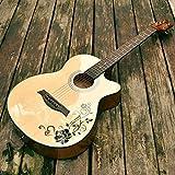 GFEI le folk guitare, guitare en bois sculpté, débutant débutant, entrée, étudiant d