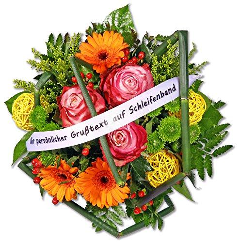 """Blumenstrauß Blumenversand """"Happy Day"""" +Gratis Grußkarte+Wunschtermin+Frischhaltemittel+Geschenkverpackung"""