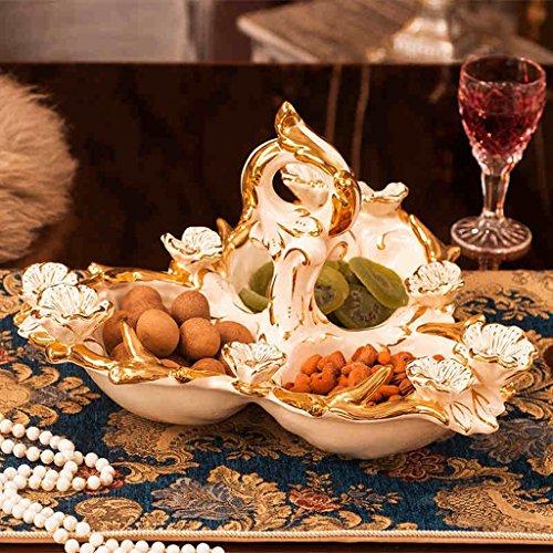 Europea - Stile snack piatto di ceramica a secco piatto di frutta snack Piastra Candy Snack piastra semi di melone noci piastra