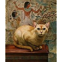 Faraone Sml. gatto, montatura egiziano, stampa da Geoff Tristram, in cotone egiziano, dimensioni: circa 25,40 20,32 cm x 8 x (10
