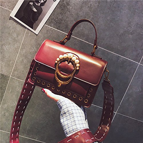 GUANGMING77 Spalla Borsa Messenger Bag Borsetta _ Spalline Larghe Small Crossbody Bag,Nero Violet