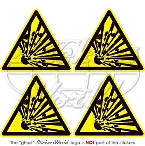 Explosive Warnung Sicherheit Zeichen Explosion Gefahr 5,1cm (50mm) Vinyl Sticker, Aufkleber X4 (Zeichen Sicherheit Sticker)