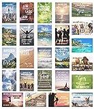 Set 25 Postkarten Leben & Momente mit Sprüchen - Karten mit Spruch - Geschenk - Dekoidee, Liebe, Freundschaft, Leben, Motivation, Geburtstagskarten