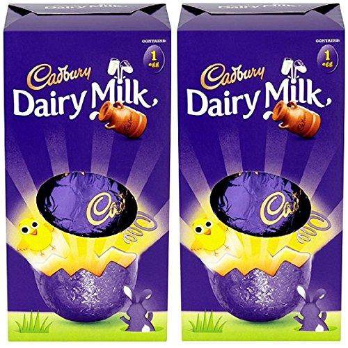 x2 Cadbury Dairy Milk Chocolate Shell Easter Egg Small 70g