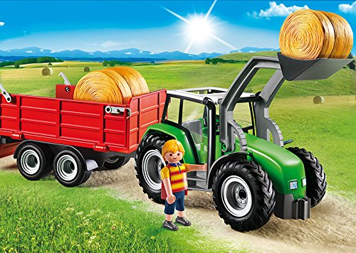 PLAYMOBIL Traktor 6130 – Großer Traktor mit Anhänger - 2