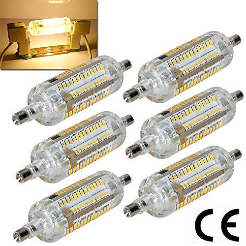 6-x-never-pais-de-r7s-j78-78-mm-bombilla-led-8-w-ac-220-240-v-blanco-calido-3000-k-108-x-3014-smd-36