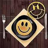 Emmenait Smiley Face en forme de moule à oeuf Pancake Moule à œuf au plat Moule Outil de cuisson