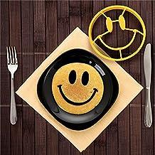 Drove cara sonriente con forma de huevo mold Pancake molde huevo frito molde herramienta de cocina