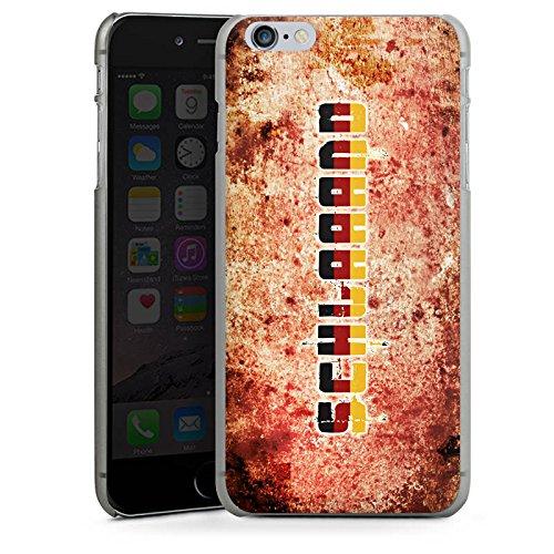 Apple iPhone X Silikon Hülle Case Schutzhülle Deutschland Fußball Germany Hard Case anthrazit-klar
