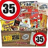 DDR Produkte L   Süßigkeiten Box   Zahl 35   Geburtstags Geschenk Vati