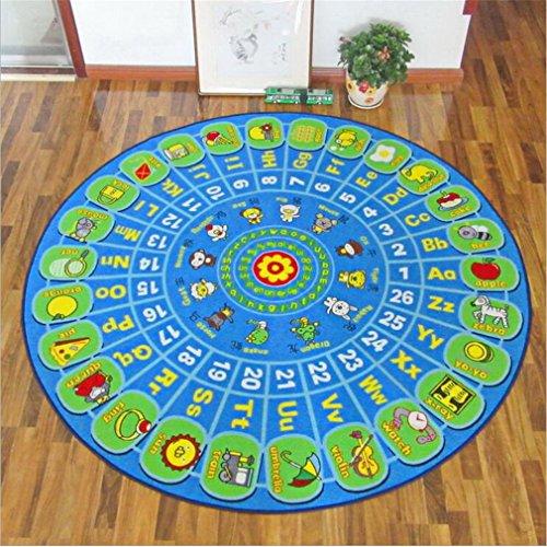 HD-Dreamer Teppich Kinder Baby Matten Spielteppich Fußmatten Baby Spielmatte Krabbeldecke Anti-Rutsch Verdicken Matten Bodentür/Vorleger/Wohnzimmer/Gästezimmer Nylon 133 * 133Cm