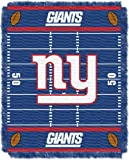 NFL New York Giants Field Woven Jacquard Baby Throw Blanket, 36x46-Inch
