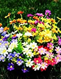 Aufrechtzuerhalten,Künstliche Blumen, Seide / Kunststoff Gänseblümchen Künstliche Blumen , yellow