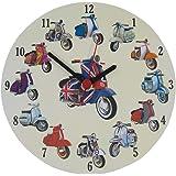 Scooter Collage Clock - Vespa - Lambretta - MS20