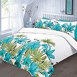Juego de colcha juego de ropa para cama de matrimonio (Lilly-azul)