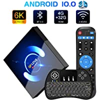 Android 10.0 TV Box Mit Minitastatur QPLOVE Q6 TV Box 4G + 32G H616 Quad-Core 64bit Cortex-A53, unterstützt Bluetooth 5.0/WLAN 2.4G/5.0G /6K HD/ Smart tv Box Android Set-top-Box