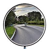 Verkehrsspiegel Sicherheitsspiegel Überwachungsspiegel Panoramaspiegel Spiegel konvex Polycarbonat 45cm Schwarz