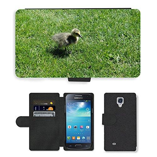 Just Cover Hot Stil Handy Karte Slot Hülle/Case/Brieftasche aus PU-Leder/m00139083Gosling Ente Küken Vogel Baby Young//Samsung Galaxy S4Mini I9190
