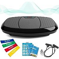 Bluefin Fitness Dual-Motor 3D Vibrationsplatte | Extra Große Anti-Rutsch-Oberfläche | Bluetooth Lautsprecher | Fett…