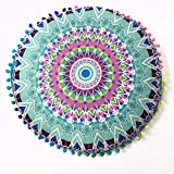 YWLINK 1PC 43 * 43cm/(17.0 * 17.0') Decoracion Indian Mandala Floor Almohadas Cojines Bohemian Cojines Redondos Funda Regalo Sala De Estar del Dormitorio
