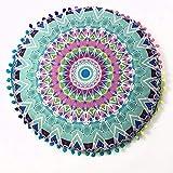 YWLINK 1PC 43 * 43cm/(17.0 * 17.0') Decoracion Indian Mandala Floor Almohadas...