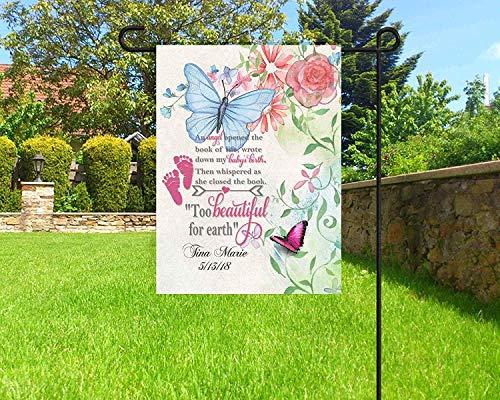 Fhdang Deko-Flagge, personalisierbar, für den Garten, Trauerfahne, Friedhofsdekoration, 30,5 x 45,7 cm