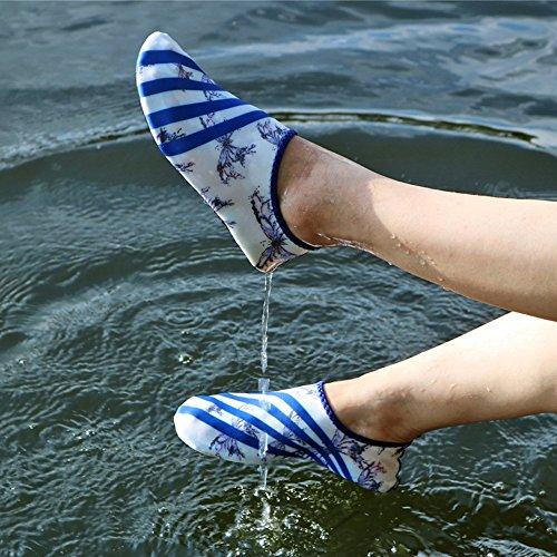per Traspirante Eizur da Spiaggia Ballo da da Unisex Yoga Surfing Scarpette Scarpe Acquatici Sport Antiscivolo Scarpe Bianco Nuoto Scarpette Immersione Spiaggia Bagno Mare x88qOrYCw