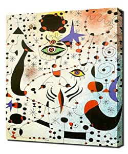 Joan Miro - Ciphers And Constellations In Love With A Woman - Reproduction d'art - Taille Du Cadre 100cm x 150cm - Image Sur Toile