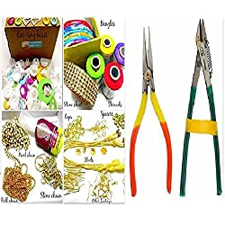Silk thread jewelery-making fully loaded box with all accessories & cutter-plier tools!!