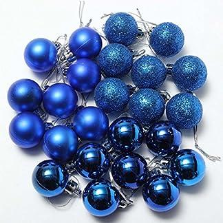 Bola de adorno – Toogoo(r) – Set de bolas de Navidad, para el árbol, con brillantina, Navidad, Bola de adorno de decoración negra.