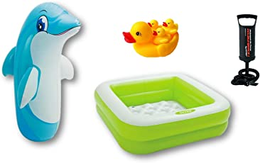 Intex Rock 'n' Roll Inflatable Baby Pool, 2ft(Multicolour)