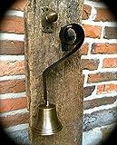 Antikas | Türglocke und Türgriff aus Messing | Ziehklingel für Ihren Eingang | Ziehglocke für ländliches Ambiente