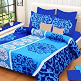 HOME ELITE Pure Cotton Printed Double Bedsheet with 2 free Pillow Covers-Multicolor , RG-NCB-316