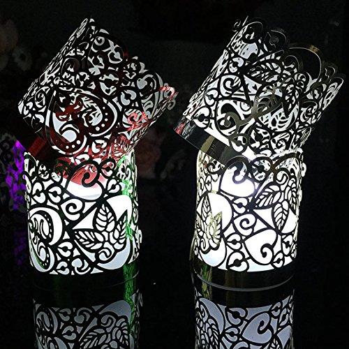 evaric 20pcs Flameless té luz Aroma de Wraps para la llama anillo LED batería velas