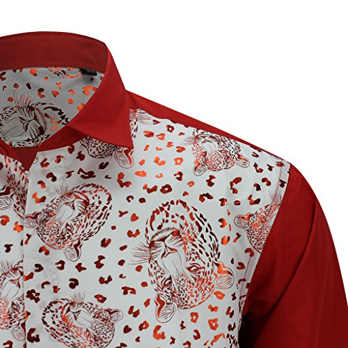 Xposed - Chemise casual - Imprimé Animal - Homme red