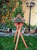 XXL großes Vogelhaus, Gartendeko , große Größen, auch mit vogelhausständer und Silo, ACHTUNG kein Bausatz von amazon oder zum Bemalen aus Holz, mit /ohne Ständer Vogel-Futterhaus GRÜN moosgrün