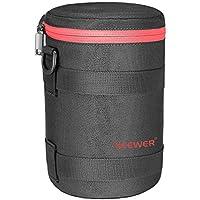 Neewer NW-L2060 Bolsa gruesa acolchada protectora resistente al agua de lente para lente 80-200MM, como Canon 70-200/4L 4LlS and Nikon 70-200/4G 80-200(rojo)