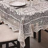 85x85 Quadratisch creme Häkeltischdecke Tischdecke mit feinstem Häkel-Muster wunderbar elegant 100% Baumwolle Landhaus modern folk Denis