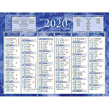 Calendrier 2020 Semestriel.Calendrier Semestriel Mural Annee 2020 21 X 26 5 Cm