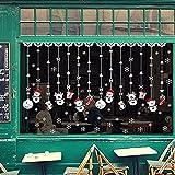 jingyuu Schneemann-Fensteraufkleber Kinderzimmer Kindergarten Wandaufkleber tapetenaufkleber kinderzimmer für Zuhause, Fenster, Restaurant, Cafe Dekoration