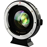 VILTROX® EF-M2 Autofokus Objektivadapter 0,71x Fokalreduktor Booster-Adapter für Canon EF-Mount-Objektiv auf M43-Kamera