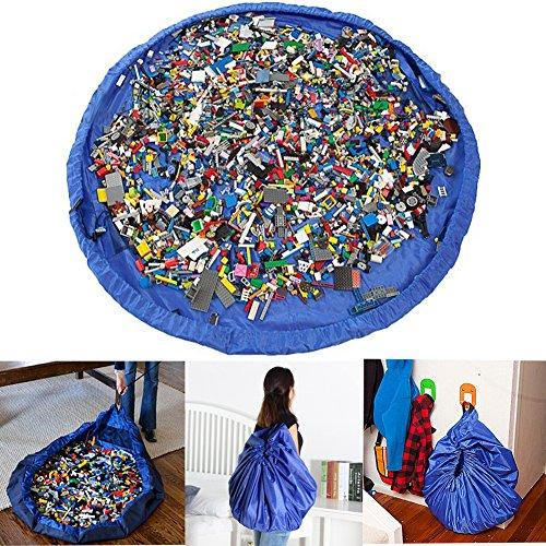 Phego Kinder Aufräumsack Spieldecke Spielzeug Speicher Tasche Aufbewahrung Beutel Spielzeugaufbewahrung XL -