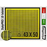 Agraria Ughetto Apicoltura ESCLUDI REGINA in Plastica ItalyPro 43x50 Yellow | Stock 10 pezzi | Made in Italy