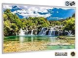 IH Engineering BV Bild Infrarotheizung (130W/300W/450W/600W/800W/1000W) mit 5 Jahren Garantie (1000, Wasserfall Nationalpark Krka Kroatien)